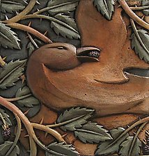 Bird in Thorns by Steve Gardner (Ceramic Wall Sculpture)