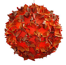 Orange Puff by Josh Urso (Fiber Pendant Lamp)