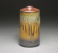 Narrow Tapered Vase by Mike Walsh (Ceramic Vase)