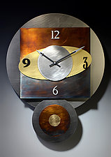 Orbit Pendulum Clock by Leonie  Lacouette (Metal Clock)