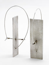 Solitary Plane Earrings by Sarah Mann (Silver Earrings)