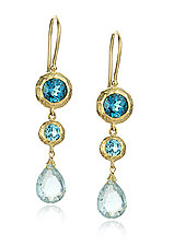 Raindrops by Sarah Richardson (Gold & Stone Earrings)