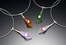 Color Calla Lily Necklace by Eloise Cotton (Glass & Pearl Necklace)