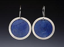 Bezeled Earrings by Ayala Naphtali (Silver & Coconut Shell Earrings)