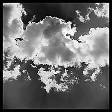 Clouds Wall Panel by Jenny Lynn (Black & White Photograph)
