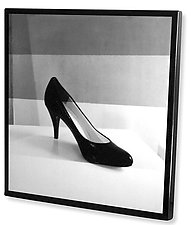 High Heel Wall Panel by Jenny Lynn (Black & White Photograph)