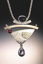 Pendant with Pearl by Idelle Hammond-Sass (Silver & Gold Pendant)