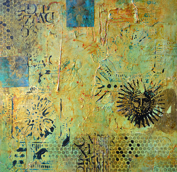 Aztec Sun II by Filomena Booth (Mixed-Media Wall Art) | Artful Home