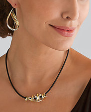 Tendril Embrace Pendant by Nancy Linkin (Gold & Silver Necklace)