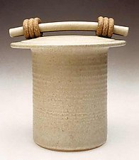 White Storage Jar by Jan Schachter (Ceramic Jar)