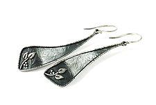 Twist Earrings by Vickie  Hallmark (Silver Earrings)