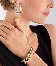 Oval Earrings by Nancy Linkin (Silver & Gold Earrings)