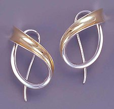 Sweeping Motion by Nancy Linkin (Silver & Gold Earrings)