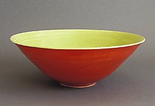 Scarlet & Lime Fruit Bowl by Amber Archer (Ceramic Bowl)