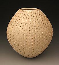 Tan Dovetail Weave by Michael Wisner (Ceramic Vessel)