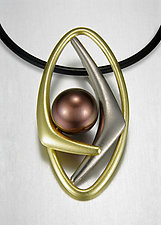 Casilde Pendant by Britt Anderson (Gold & Pearl Pendant)