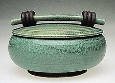 Green Casserole by Jan Schachter (Ceramic Casserole)