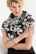 Alana Wrap in Black & White by Elizabeth Rubidge  (Silk & Wool Wrap)