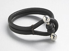 Barbell Bracelet by Jutta Neumann  (Leather Bracelet)