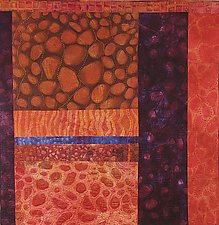 Life Goes On I by Karen Kamenetzky (Fiber Wall Piece)