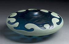 Flow Low by Michael Ulschak (Art Glass Vessel)