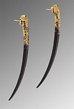 Quill Earrings by Pat Flynn (Iron & Gold Earrings)