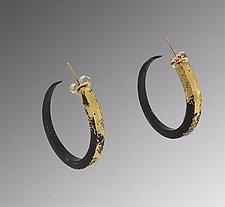 Gold Dust Hoops by Pat Flynn (Gold & Iron Earrings)