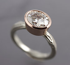 Mixed Gold Moissanite Twig Ring by Sarah Hood (Gold & Stone Ring)
