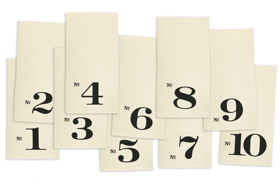 Numbered Edition Napkins