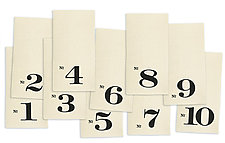 Numbered Edition Napkins by Heather Lins (Fiber Napkins)
