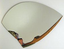 Water Song III by Jan Jacque (Ceramic & Wood Mirror)