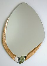 Oceanside Cove II by Jan Jacque (Ceramic & Wood Mirror)