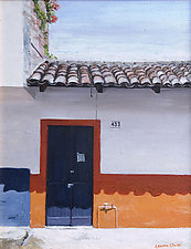 Blue Door by Laurie Regan Chase (Giclee Print)
