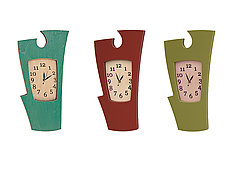 Simon Says Clock: Bright Colors by Vincent Leman (Wood Wall Clock)