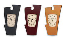 Simon Says Clock: Classic Colors by Vincent Leman (Wood Wall Clock)