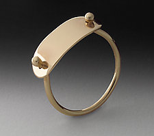 Gold Plate Ring by Peg Fetter (Gold Ring)