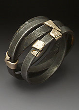 Street Cleaner Ring by Peg Fetter (Gold & Steel Ring)