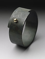 Steel Snap Ring by Peg Fetter (Gold & Steel Ring)
