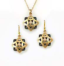 Flower Set by Keiko Mita (Gold & Silver Jewelry)