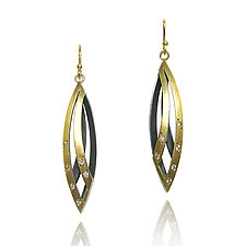 Willow Earrings by Keiko Mita (Gold & Silver Earrings)