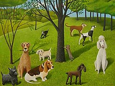 The Dog Park by Jane Troup (Giclée Print)