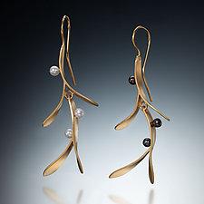 Branch Earrings by Susan Kinzig (Gold & Pearl Earrings)