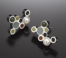 Bubble Earrings by Susan Kinzig (Silver, Pearl & Polymer Clay Earrings)