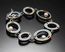Loop Bracelet by Susan Kinzig (Silver, Pearl & Polymer Clay Bracelet)