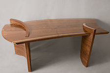 Walnut Low Table by Ian Eldridge (Wooden Table)