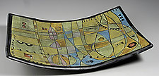 Time & Space Rectangular Bowl by Janine Sopp (Ceramic Bowl)