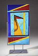 Triangles by Varda Avnisan (Art Glass Sculpture)