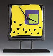 Yumm Yellow by Nina  Cambron (Art Glass Clock)