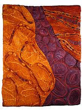Worlds Apart by Karen Kamenetzky (Fiber Wall Hanging)