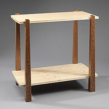 Double Length Mahaple Table by Mark Del Guidice (Wood Side Table)